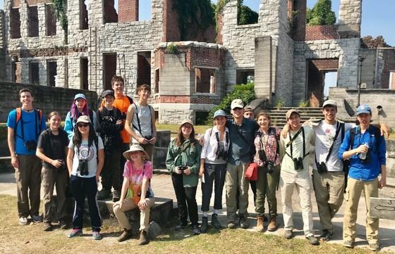 Camp TALON crew at Cumberland's Dungeness ruins (Bob Sargent/DNR)