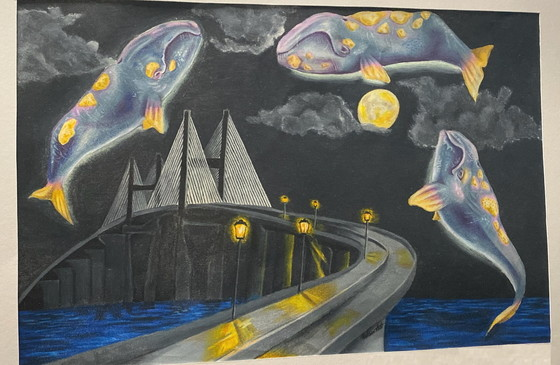 CoastFest Endangered Species Artwork winner by Glynn Academy senior Lillian Stubbs