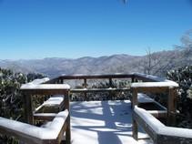 Black Rock Mountain in snow