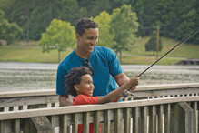Fishing at James H. Floyd State Park