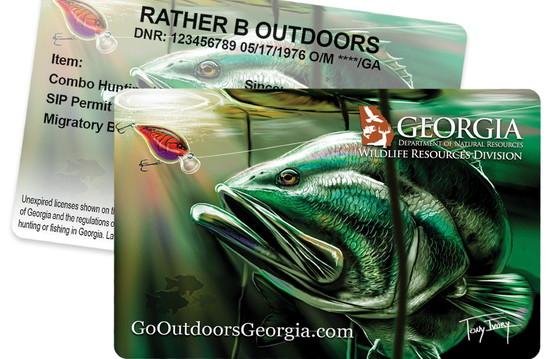 "Fishing license ""hard card"""