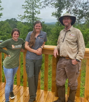 DNR staff at Prater's Mill (Prater's Mill Foundation)
