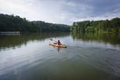 kayaker at don carter state park
