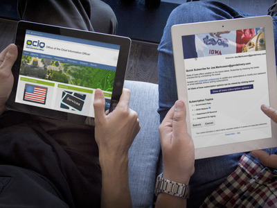 OCIO - iPad users navigating website