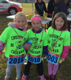 three girls at fun run