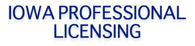 Iowa Professional Licensing