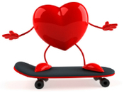 Heart on Skateboard