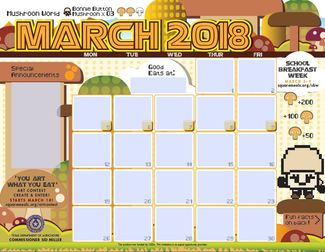 March menu template