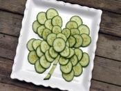 Cucumbers shaped as a shamrock