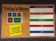 today's menu poster