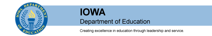 Iowa Department of Education Banner
