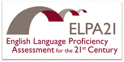 ELPA21 logo with text English Language Proficiency Assessment for the 21st Century