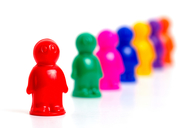 Colorful toy people