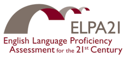 ELPA21 logo with curved bridge graphic