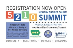 Healthy Choices Count Summit registration information