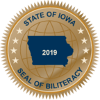 Graphic image of the State of Iowa Seal of Biliteracy
