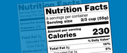 nutriton facts lable