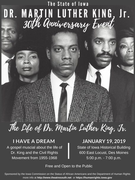 New 2019 Dr Martin Luther King Jr Events In Iowa
