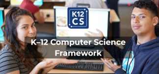K12 CS Framework logo with kids