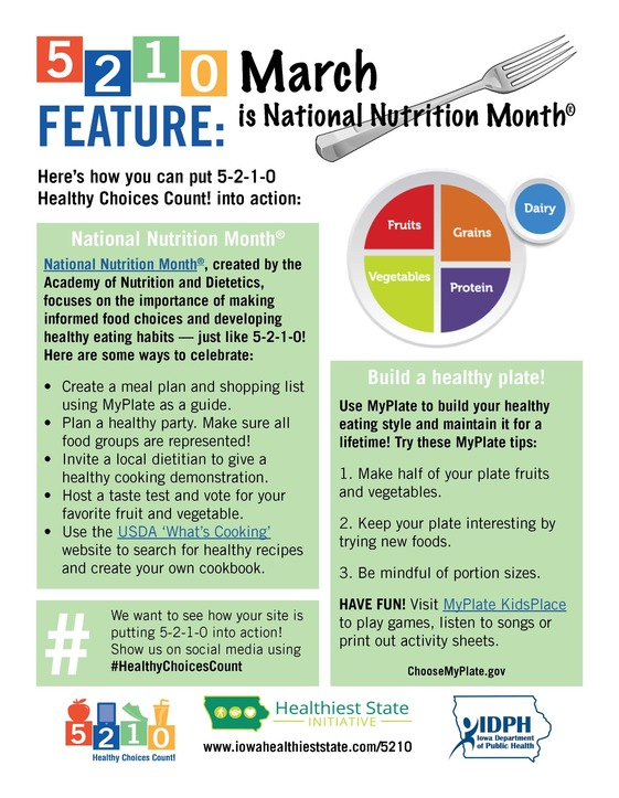 March Healthy Choices Count feature