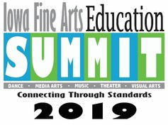 Fine Arts Education Summit logo that reads connecting through standards 2019