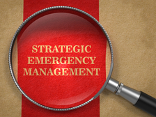Words strategic emergency management viewed through a magnifying glass