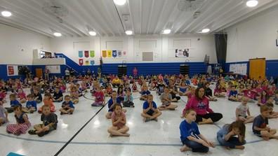 kids during yoga