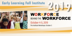 Early Learning Fall Institute conference logo and dates