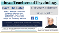 Iowa Teachers of Psychology Conference