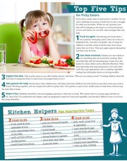 Top five tips for picky eaters