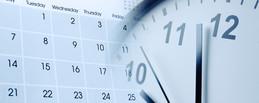 Calendar and clock images for deadline reminders