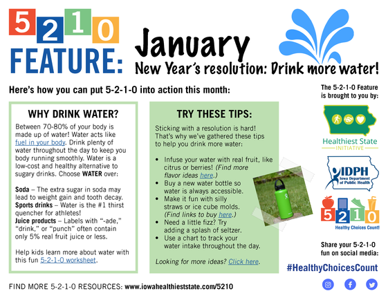 January 5210 Feature - Drink More Water!