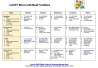 CACFP Menu with Best Practices
