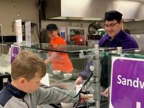Waukee school meal serving line