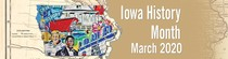 Iowa History Month banner