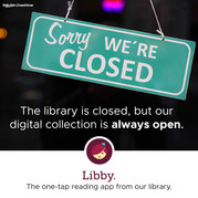 Sorry, we're closed graphic