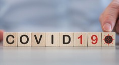 COVID 19 spelled out in letters