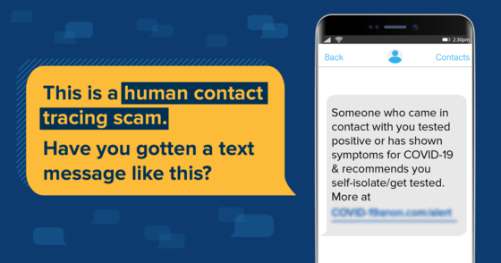 Contact Tracing Scam
