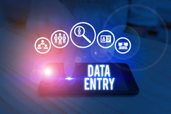 Data entry graphic.