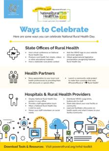 Ways to Celebrate NRHD