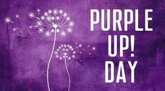 Purple Up Day graphic