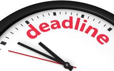 Deadline clock image.