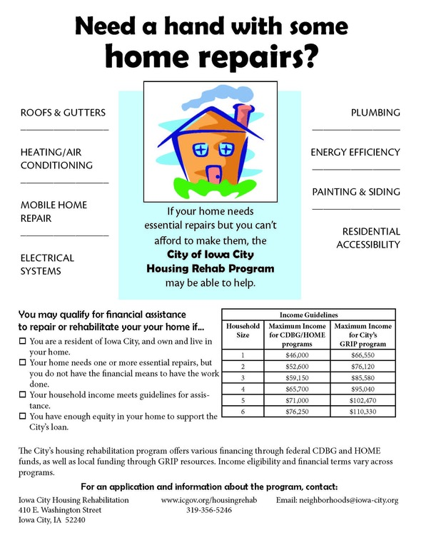 Now accepting applications for City's Housing Rehabilitation
