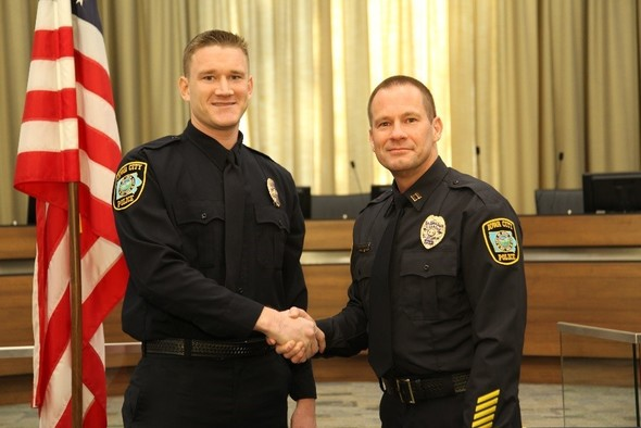 Alex McEleney joins the Iowa City Police Department.