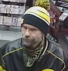 A surveillance image following a robbery the Jan. 7 robbery at Romantix, 315 Kirkwood Ave