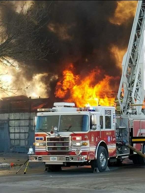 Fire on Benton St.