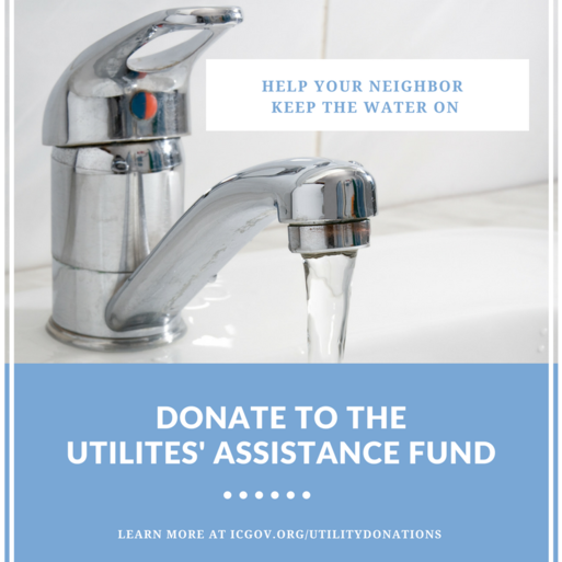 An image promoting Iowa City's Utilities' Assistance Fund.