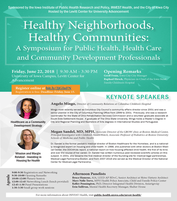 Register for the Healthy Neighborhoods, Healthy Communities Symposium