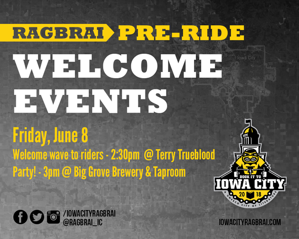 Welcome events for RAGBRAI