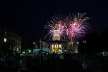 4th of July fireworks above the Old Capitol.